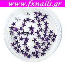 Strass Star Purple color 100pcs