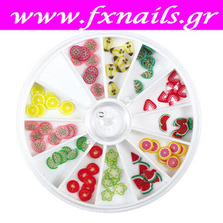 Ρόδα Fimo Fruits 12 colors